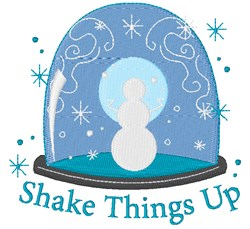 Shake Things Up embroidery design