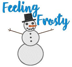 Feeling Frosty embroidery design
