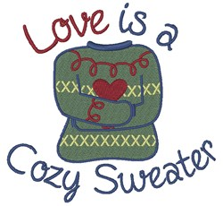 A Cozy Sweater embroidery design