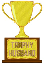 Trophy Husband embroidery design