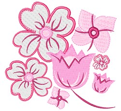 Delicate Flowers embroidery design