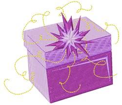 Purple Present Box embroidery design
