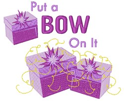 Put A Bow On It! embroidery design