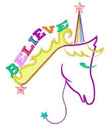 Believe In Unicorns embroidery design
