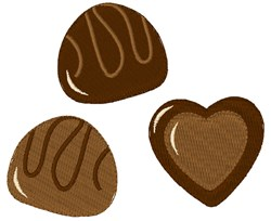Chocolate Candies embroidery design