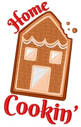 Gingerbread Home Cookin embroidery design