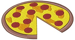 Pepperoni Pizza embroidery design