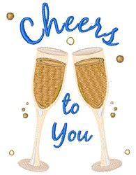 Cheers To You embroidery design