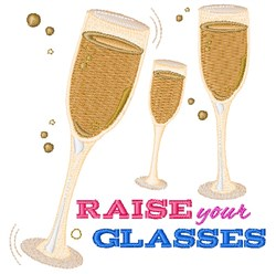 Raise Your Glasses embroidery design