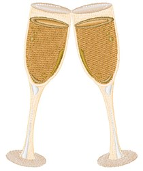 Champagne Toast embroidery design