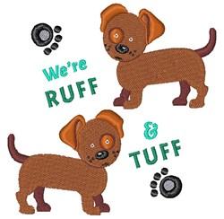 Were Ruff & Tuff embroidery design