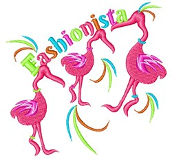 Flamingo Fashionista embroidery design