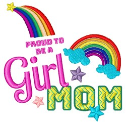 Proud Girl Mom embroidery design