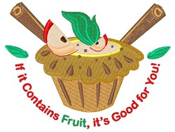 Fruit Is Good For You! embroidery design