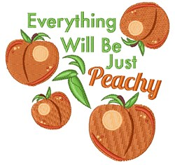 Just Peachy embroidery design