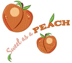 Sweet As A Peach embroidery design