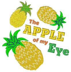 The Apple Of My Eye embroidery design