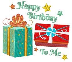 Happy Birthday To Me embroidery design