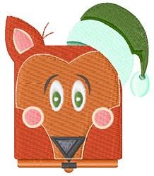 Santa Fox embroidery design
