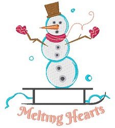 Melting Hearts embroidery design