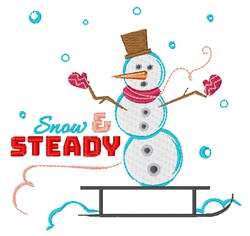 Snow & Steady embroidery design