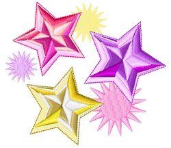 Stars & Starbursts embroidery design