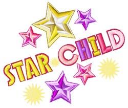 Star Child embroidery design