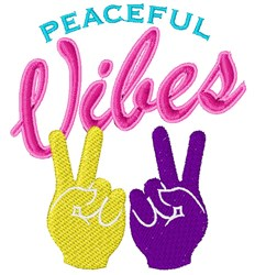 Peaceful Vibes embroidery design