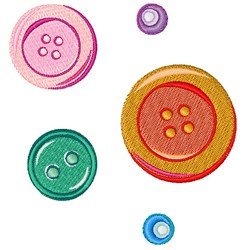 Colorful Buttons embroidery design