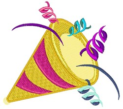 Celebration Horn embroidery design