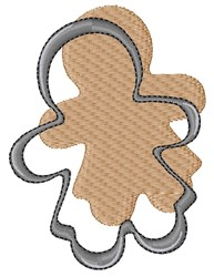 Gingerbread Cookie Cutter embroidery design