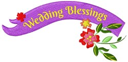 Wedding Blessings embroidery design