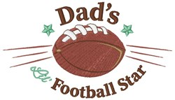 Dads Lil Football Star embroidery design
