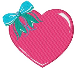 Heart & Bow embroidery design