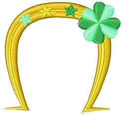 St. Patricks Day Horseshoe embroidery design