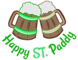 Happy St. Paddy embroidery design