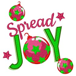 Spread Joy embroidery design
