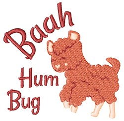 Baah Hum Bug embroidery design