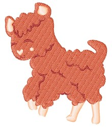 Pink Lamb embroidery design