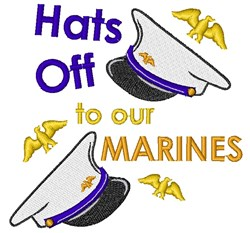 Hats Off To Marines embroidery design