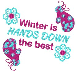 Winter Is The Best embroidery design