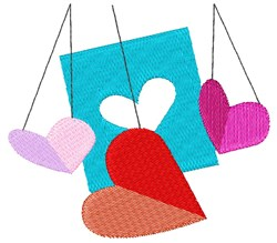 Valentines Day Paper Hearts embroidery design