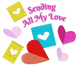 Sending All My Love embroidery design