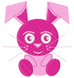 Pink Bunny embroidery design
