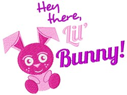 Hey There, Lil Bunny! embroidery design