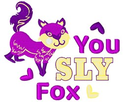 You Sly Fox embroidery design