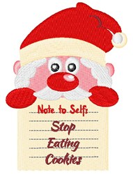 Stop Eating Cookies embroidery design