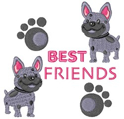 Best Friends Spotted Dogs embroidery design