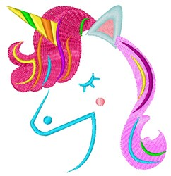 Colorful Unicorn embroidery design