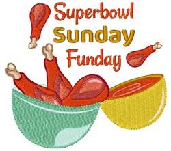 Superbowl Sunday Funday embroidery design